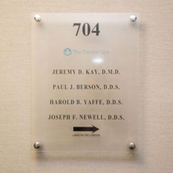 The Dental Spa Philadelphia Dentists name plate